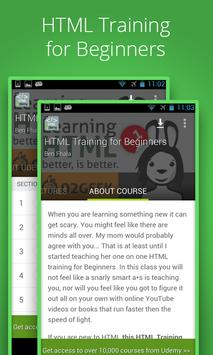Beginners HTML Training poster