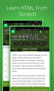Basic HTML Tutorial by Udemy poster