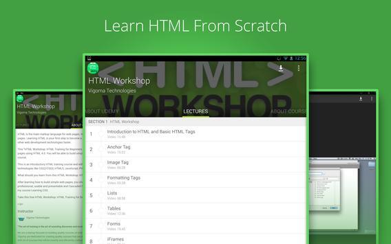 Basic HTML Tutorial by Udemy screenshot 3