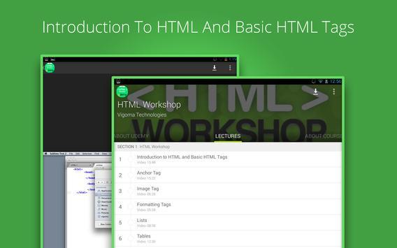 Basic HTML Tutorial by Udemy screenshot 5
