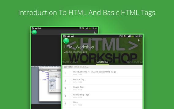 Basic HTML Tutorial by Udemy screenshot 8