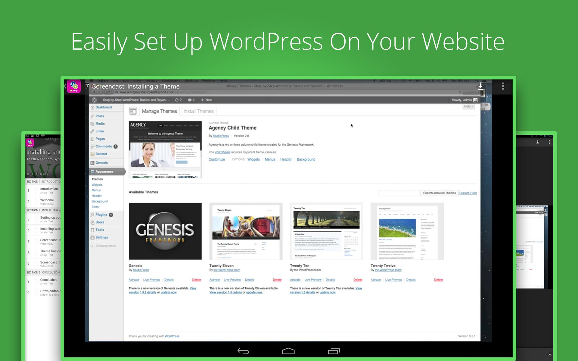 Learn WordPress: Udemy Course for Android - APK Download