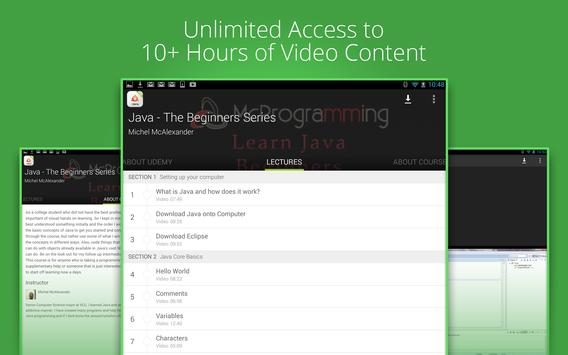 Online Java learning by Udemy screenshot 3