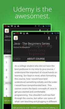 Online Java learning by Udemy poster