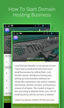 Learn Domain Reseller business poster
