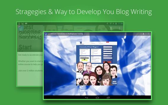 Guest Blogging Success apk screenshot