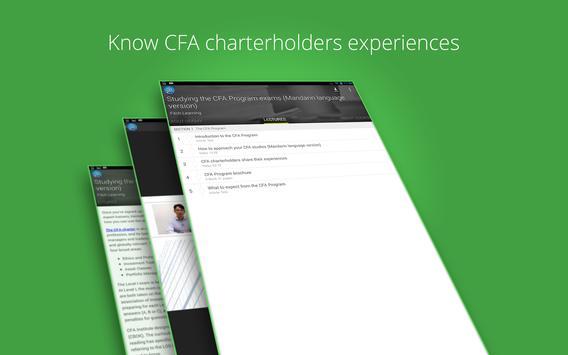 CFA Program exams course apk screenshot