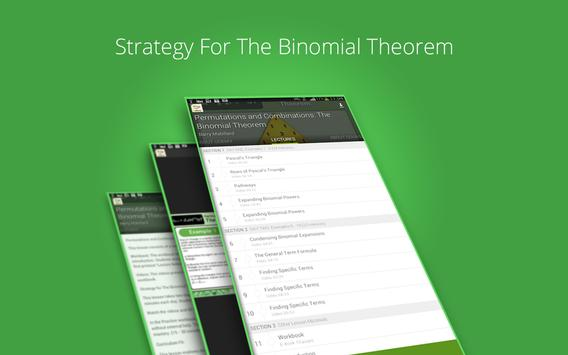 Binomial Theorem Tutorials screenshot 7