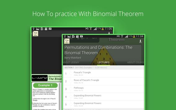 Binomial Theorem Tutorials screenshot 8