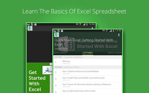 Basic Excel 2013 Course screenshot 2