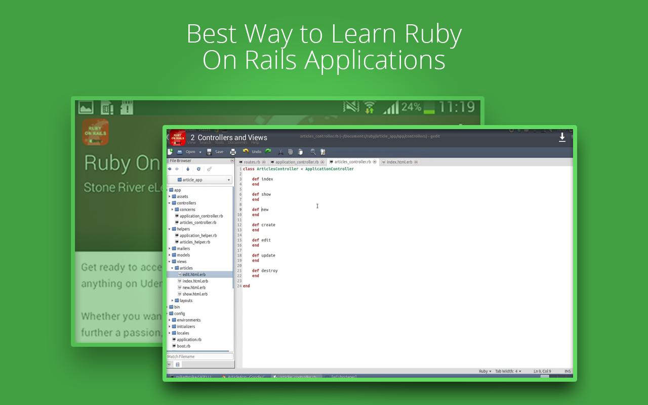Learn Ruby On Rails by Udemy cho Android - Tải về APK