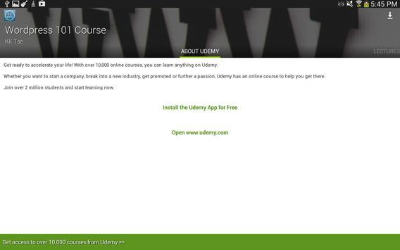 Udemy WordPress Tutorials screenshot 7