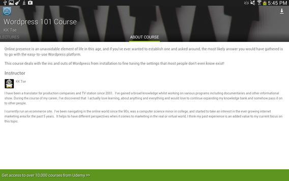 Udemy WordPress Tutorials screenshot 8