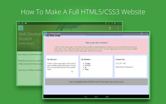 Web Development Tutorials screenshot 5