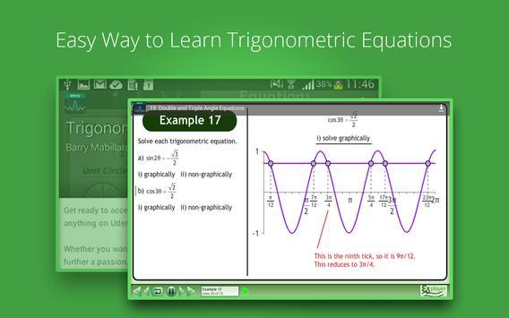 Trigonometric Equations Course screenshot 8