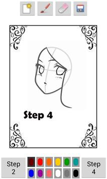 Learn To Draw Anime Faces apk screenshot