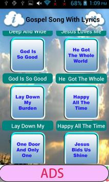 Gospel Song With Lyrics apk screenshot