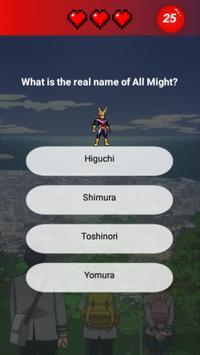 Hero Academia Quiz screenshot 4