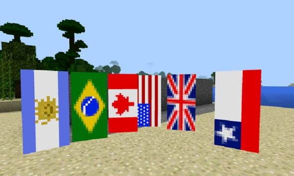 Mod Flags for MCPE poster