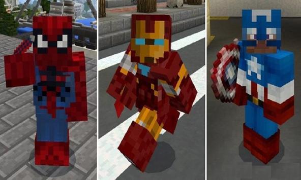 Mod Superhero Armors for MCPE poster