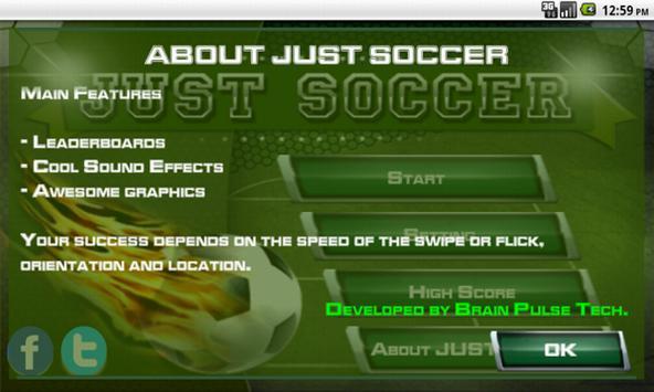 JUST SOCCER apk screenshot
