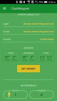CashMagnet - earn money & gift card apk screenshot
