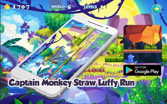 Captain Monkey Straw Luffy Run Adventure poster