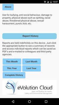 eVolution Incident Reporting screenshot 1