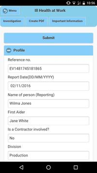 eVolution Incident Reporting screenshot 2