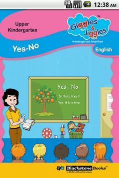"UKG - English Words - ""YES NO"" poster"
