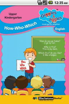 HOW / WHO / WHICH -English-UKG poster