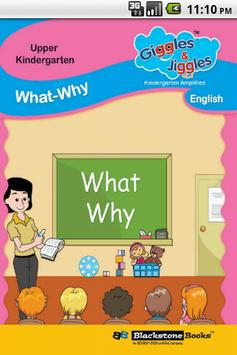 UKG - English Words - WHAT WHY poster