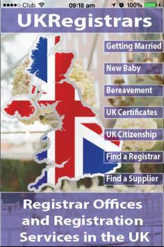 UK Registrars poster