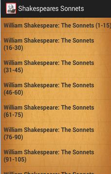 Shakespeare's Sonnets poster