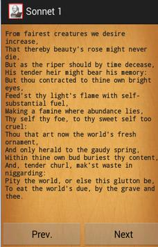 Shakespeare's Sonnets apk screenshot
