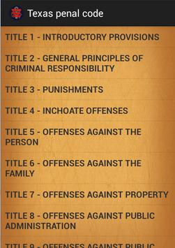 Texas penal code for Android - APK Download