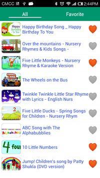 English kids songs poster