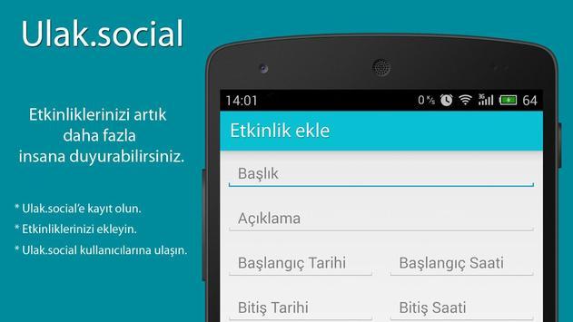 Ulak.Social - Etkinlik paylaş apk screenshot