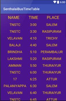 Bus Time Table Sentharapatti apk screenshot