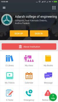 Adarsh college of engineering poster