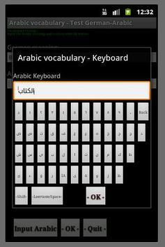 Arabische Vokabeln poster