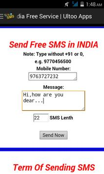 Ultoo Send SMS & Free Recharge poster