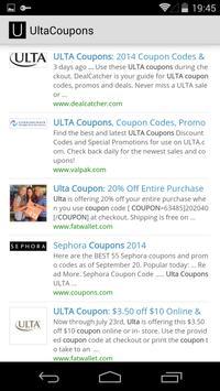 Ulta Coupons apk screenshot
