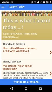 iLearntToday apk screenshot