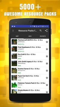 Resources Packs for Minecraft poster
