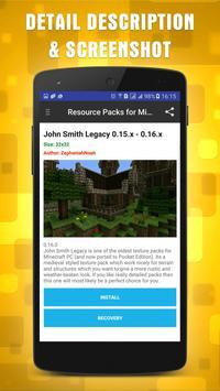 Resources Packs for Minecraft apk screenshot