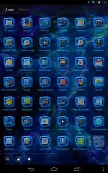 Blue Thunder GO Launcher Theme apk screenshot