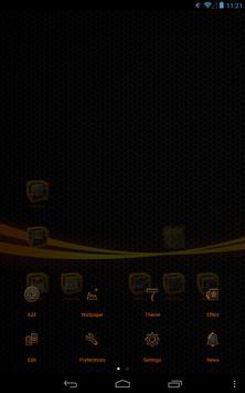 Orange Thund GO Launcher Theme apk screenshot