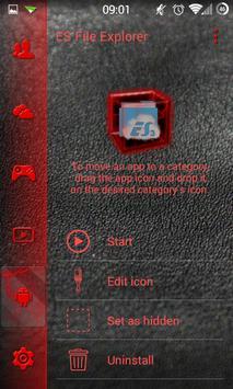 SL Red Thunder Theme apk screenshot