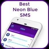 Best Neon Blue SMS icon